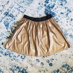 L Gold Skater Skirt
